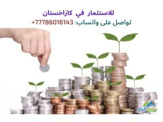 نحن نبحث عن مستثمرين لكازاخستان للتواصل: 77786016143